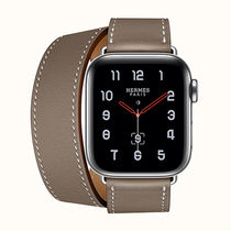 HERMES Casual Style Unisex Leather Party Style Office Style