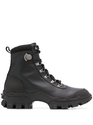 MONCLER Mountain Boots Rubber Sole Lace-up Casual Style Street Style
