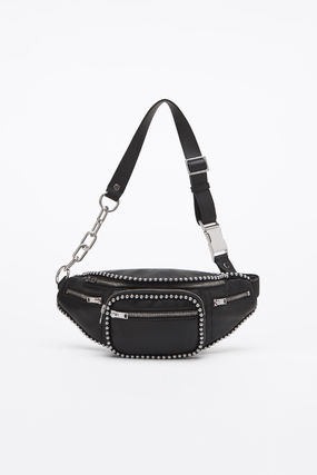 Casual Style Unisex Studded Street Style 2WAY 3WAY Leather