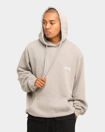 STUSSY Pullovers Street Style Long Sleeves Plain Cotton