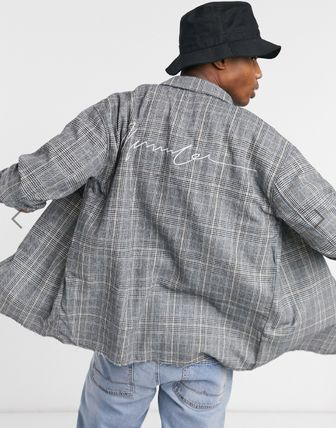 Glen Patterns Other Plaid Patterns Long Sleeves Cotton
