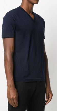 PRADA V-Neck Plain Short Sleeves Luxury V-Neck T-Shirts