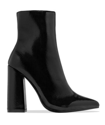 Casual Style Plain Block Heels Office Style High Heel Boots