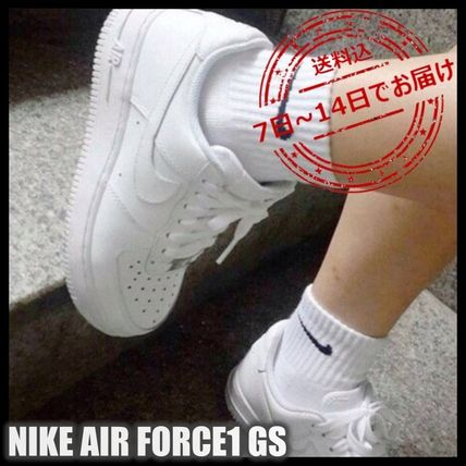 Nike AIR FORCE 1 Street Style Kids Girl Sneakers