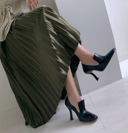 TOM&RABBIT Casual Style Office Style Elegant Style Pumps & Mules