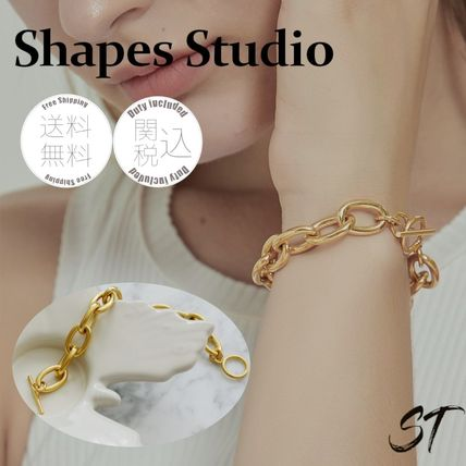 Bangles Casual Style Chain Party Style 18K Gold Office Style