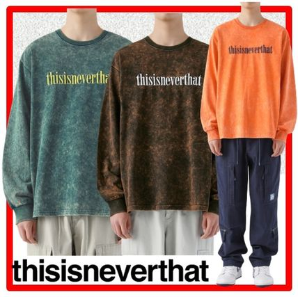 thisisneverthat Long Sleeve Unisex Street Style Long Sleeves Cotton Long Sleeve T-shirt