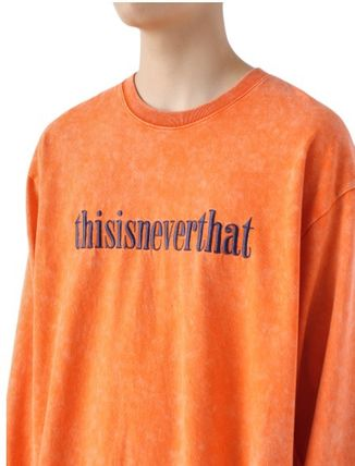 thisisneverthat Long Sleeve Unisex Street Style Long Sleeves Cotton Long Sleeve T-shirt 4