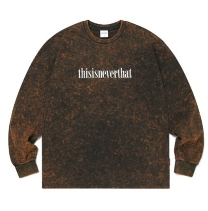 thisisneverthat Long Sleeve Unisex Street Style Long Sleeves Cotton Long Sleeve T-shirt 16