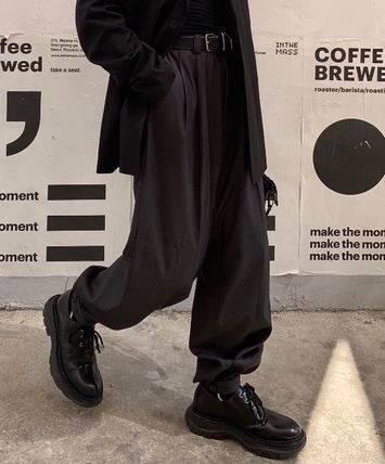 Slax Pants Street Style Collaboration Plain Slacks Pants