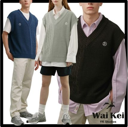 Wai Kei Casual Style Unisex Street Style Vests