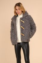 Short Casual Style Faux Fur Street Style Plain Party Style