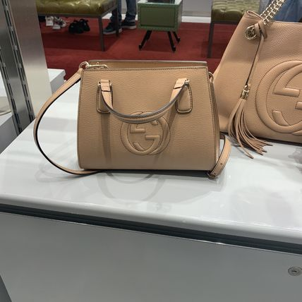 GUCCI Casual Style 2WAY Plain Leather Office Style Elegant Style