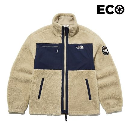 THE NORTH FACE WHITE LABEL Unisex Street Style Logo Fleece Jackets Outerwear