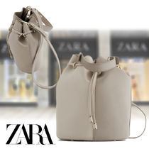ZARA Casual Style Faux Fur 2WAY Plain Party Style Purses