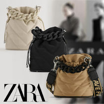 ZARA Casual Style Street Style 2WAY Plain Party Style Purses
