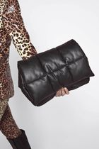 Stand Casual Style Faux Fur 2WAY Plain Crossbody Clutches