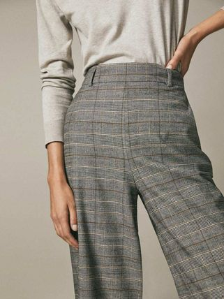 Massimo Dutti Glen Patterns Casual Style Medium Office Style Culottes
