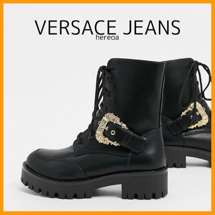 Casual Style Street Style Logo Boots Boots