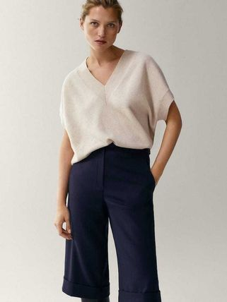 Massimo Dutti Casual Style Wool Plain Office Style Culottes