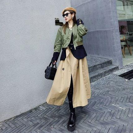 Formal Style  Co-ord Asymmetry Military Stand Collar Coats