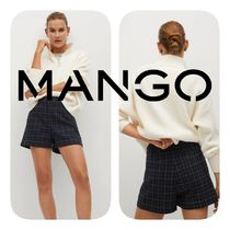 MANGO Short Other Plaid Patterns Casual Style Shorts