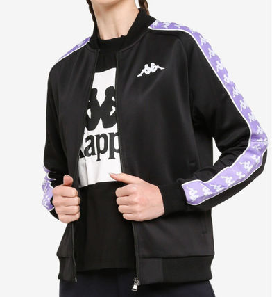 Casual Style Street Style Plain Medium Logo Varsity Jackets