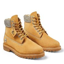 Jimmy Choo Mountain Boots Collaboration Leather Logo Outdoor Boots