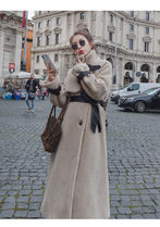 Casual Style Street Style Plain Long Formal Style  Coats