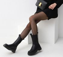 Casual Style Faux Fur Street Style Plain Chelsea Boots