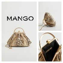 MANGO Casual Style Party Style Python Elegant Style Party Bags