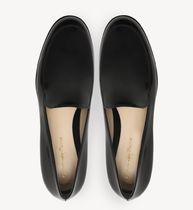 Gianvito Rossi Loafer & Moccasin Round Toe Casual Style Plain Leather Block Heels 9