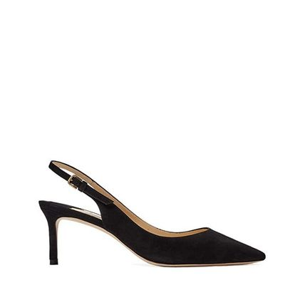 Jimmy Choo Plain Pin Heels Party Style Office Style Elegant Style
