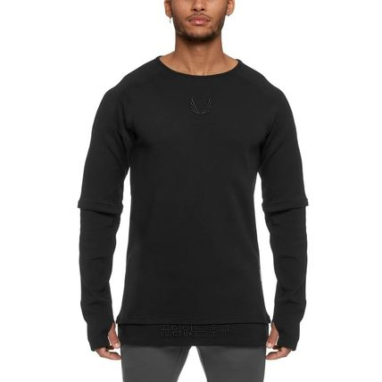 Street Style Long Sleeves Plain Long Sleeve T-shirt Workout