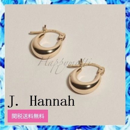 Unisex 14K Gold Elegant Style Earrings