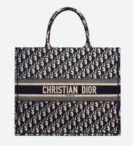 Christian Dior BOOK TOTE 2WAY Logo Totes