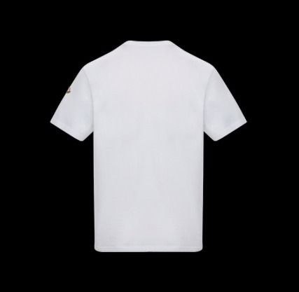 MONCLER Crew Neck Plain Cotton Short Sleeves Oversized Logo
