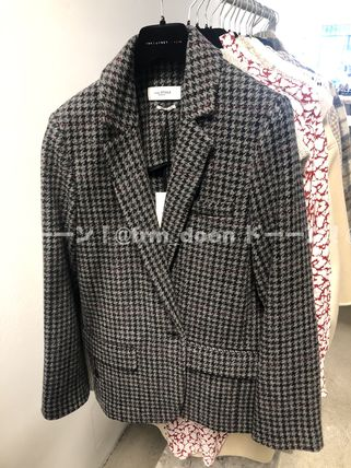 Short Other Plaid Patterns Wool Oversized Jackets