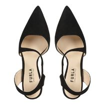 FURLA Rubber Sole Suede Plain Pin Heels Party Style Office Style