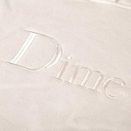 Dime Hoodies Pullovers Street Style Long Sleeves Plain Cotton Logo 3