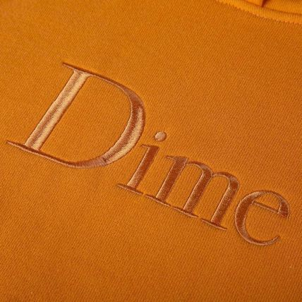 Dime Hoodies Pullovers Street Style Long Sleeves Plain Cotton Logo 7
