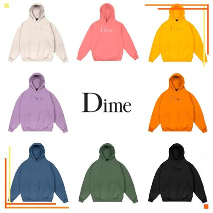 Dime Hoodies Pullovers Street Style Long Sleeves Plain Cotton Logo