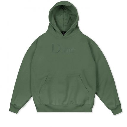 Dime Hoodies Pullovers Street Style Long Sleeves Plain Cotton Logo 10