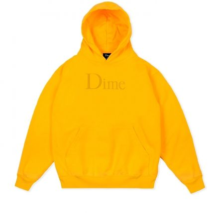 Dime Hoodies Pullovers Street Style Long Sleeves Plain Cotton Logo 12