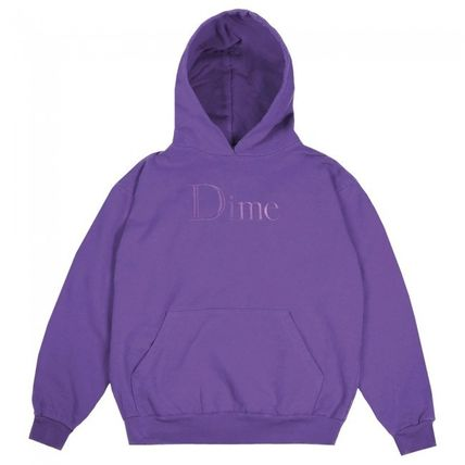 Dime Hoodies Pullovers Street Style Long Sleeves Plain Cotton Logo 13