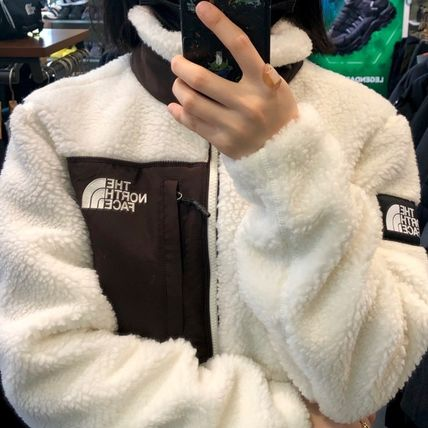 THE NORTH FACE SHERPA Unisex Street Style Logo Fleece Jackets Outerwear