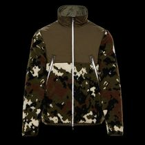 MONCLER Camouflage Plain Logos on the Sleeves Cardigans