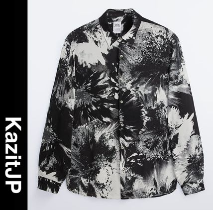 ZARA Shirts Street Style Long Sleeves Shirts