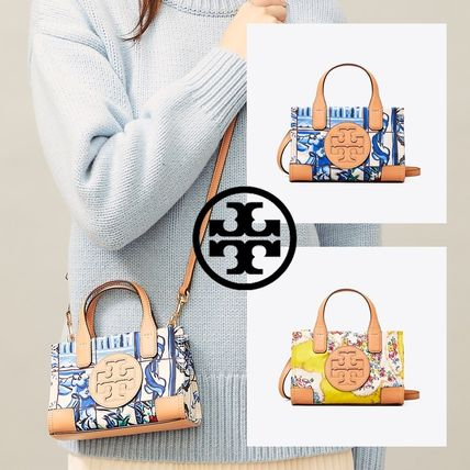 Tory Burch ELLA TOTE Casual Style Nylon Street Style 2WAY Party Style