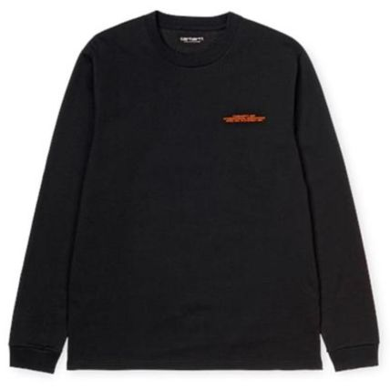 Carhartt Crew Neck Unisex Street Style Long Sleeves Cotton